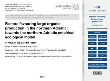 Factors Favouring Large Organic Producti... by Kraus, R.