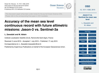Accuracy of the Mean Sea Level Continuou... by Zawadzki, L.