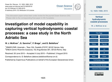 Investigation of Model Capability in Cap... by McKiver, W. J.