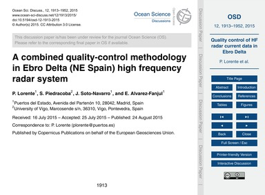 A Combined Quality-control Methodology i... by Lorente, P.
