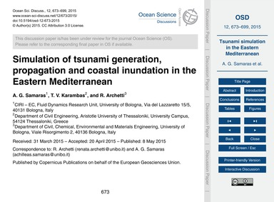 Simulation of Tsunami Generation, Propag... by Samaras, A. G.