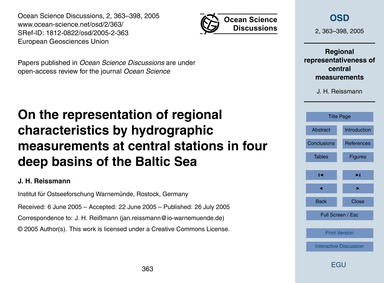 On the Representation of Regional Charac... by Reissmann, J. H.