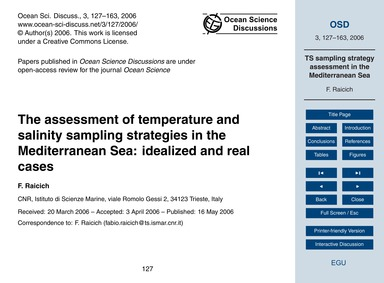 The Assessment of Temperature and Salini... by Raicich, F.
