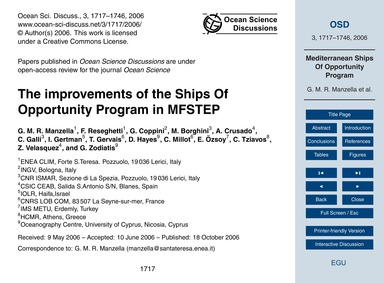The Improvements of the Ships of Opportu... by Manzella, G. M. R.