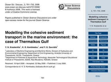 Modelling the Cohesive Sediment Transpor... by Krestenitis, Y. N.