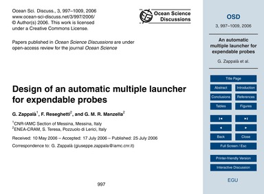 Design of an Automatic Multiple Launcher... by Zappalà, G.
