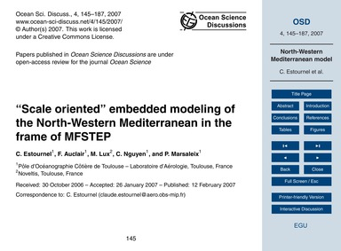 Scale Oriented Embedded Modeling of the ... by Estournel, C.