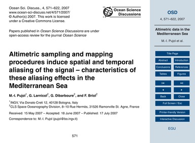 Altimetric Sampling and Mapping Procedur... by Pujol, M.-i.