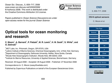 Optical Tools for Ocean Monitoring and R... by Moore, C.