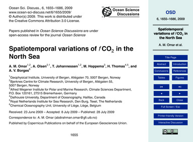 Spatiotemporal Variations of FCo2 in the... by Omar, A. M.