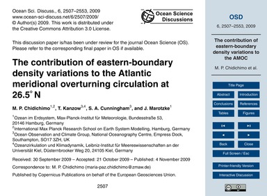 The Contribution of Eastern-boundary Den... by Chidichimo, M. P.