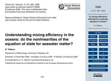 Understanding Mixing Efficiency in the O... by Tailleux, R.