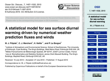 A Statistical Model for Sea Surface Diur... by Filipiak, M. J.