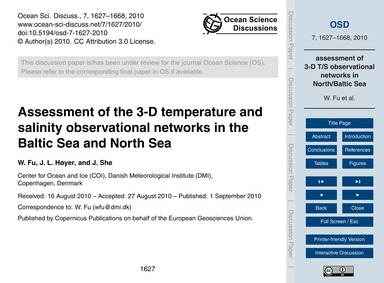 Assessment of the 3-d Temperature and Sa... by Fu, W.