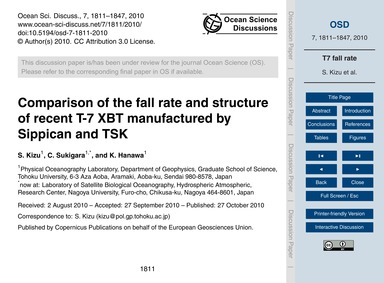 Comparison of the Fall Rate and Structur... by Kizu, S.