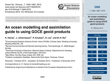 An Ocean Modelling and Assimilation Guid... by Haines, K.
