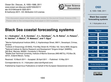 Black Sea Coastal Forecasting Systems : ... by Kubryakov, A. I.