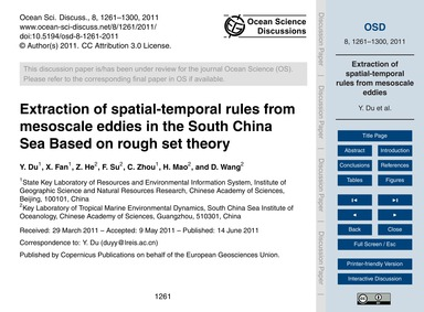 Extraction of Spatial-temporal Rules fro... by Du, Y.