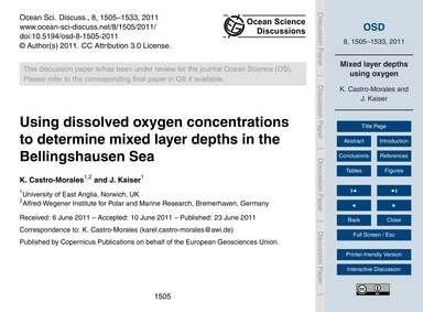 Using Dissolved Oxygen Concentrations to... by Castro-morales, K.