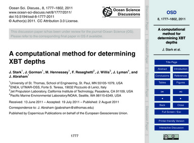 A Computational Method for Determining X... by Stark, J.