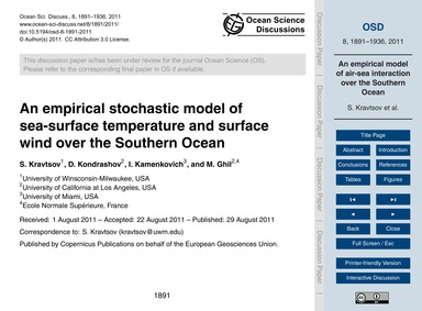 An Empirical Stochastic Model of Sea-sur... by Kravtsov, S.