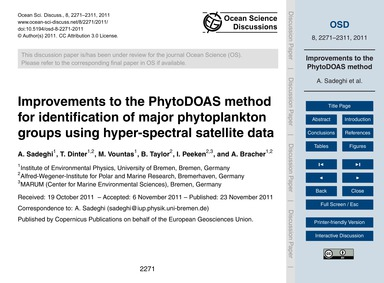 Improvements to the Phytodoas Method for... by Sadeghi, A.