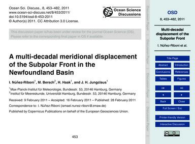 A Multi-decadal Meridional Displacement ... by Núñez-riboni, I.