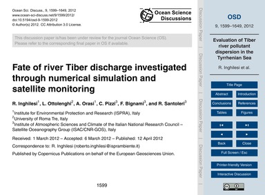 Fate of River Tiber Discharge Investigat... by Inghilesi, R.