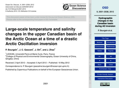 Large-scale Temperature and Salinity Cha... by Bourgain, P.