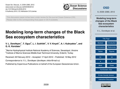 Modeling Long-term Changes of the Black ... by Dorofeyev, V. L.
