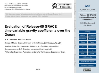 Evaluation of Release-05 Grace Time-vari... by Chambers, D. P.