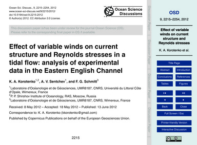 Effect of Variable Winds on Current Stru... by Korotenko, K. A.