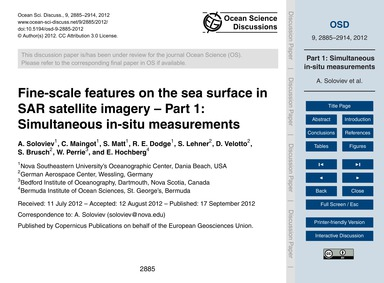 Fine-scale Features on the Sea Surface i... by Soloviev, A.