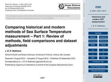 Comparing Historical and Modern Methods ... by Matthews, J. B. R.
