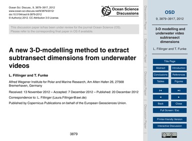 A New 3-d-modelling Method to Extract Su... by Fillinger, L.
