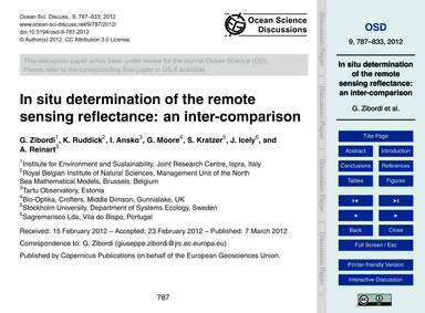 In Situ Determination of the Remote Sens... by Zibordi, G.