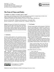 The Eons of Chaos and Hades : Volume 1, ... by Goldblatt, C.