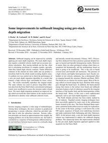 Some Improvements in Subbasalt Imaging U... by Flecha, I.