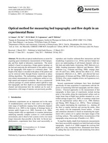 Optical Method for Measuring Bed Topogra... by Limare, A.