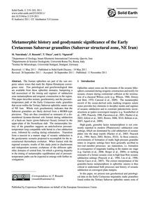 Metamorphic History and Geodynamic Signi... by Nasrabady, M.