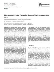Plate Kinematics in the Cantabrian Domai... by Tavani, S.