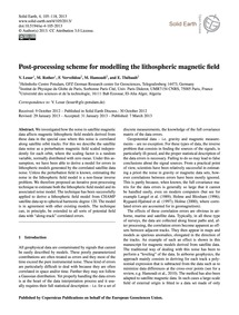 Post-processing Scheme for Modelling the... by Lesur, V.