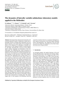 The Dynamics of Laterally Variable Subdu... by Guillaume, B.