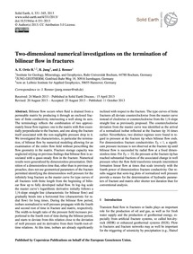 Two-dimensional Numerical Investigations... by Ortiz R., A. E.