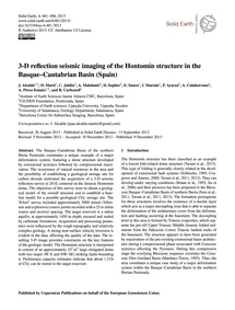 3-d Reflection Seismic Imaging of the Ho... by Alcalde, J.