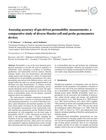 Assessing Accuracy of Gas-driven Permeab... by Filomena, C. M.