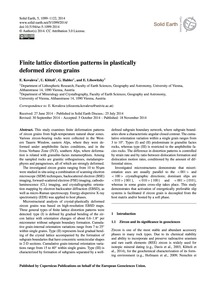 Finite Lattice Distortion Patterns in Pl... by Kovaleva, E.
