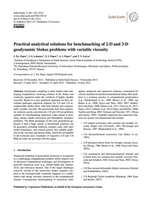 Practical Analytical Solutions for Bench... by Popov, I. Yu.