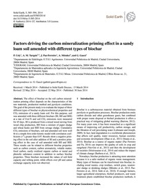 Factors Driving the Carbon Mineralizatio... by Cely, P.
