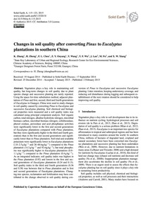 Changes in Soil Quality After Converting... by Zhang, K.